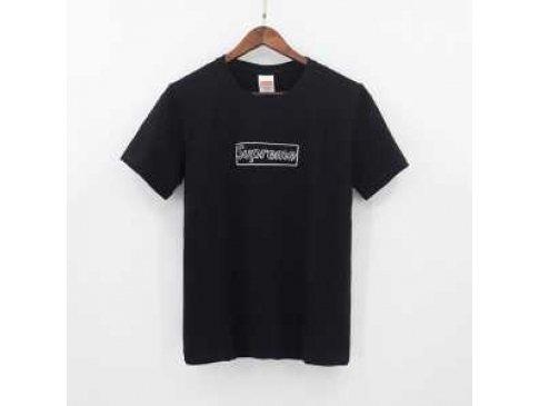 半袖Tシャツ 2色可選 SUPREME×KAWS BOX LOGO モデル大絶賛♪ 17SS