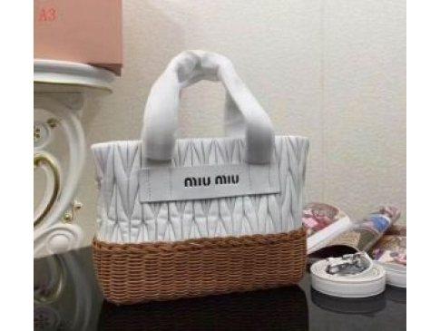 ミュウミュウ人気通販MIUMIUコピーバッグ VITELLO LUX リボンデザイン ショルダー付レディースハンドバッグ