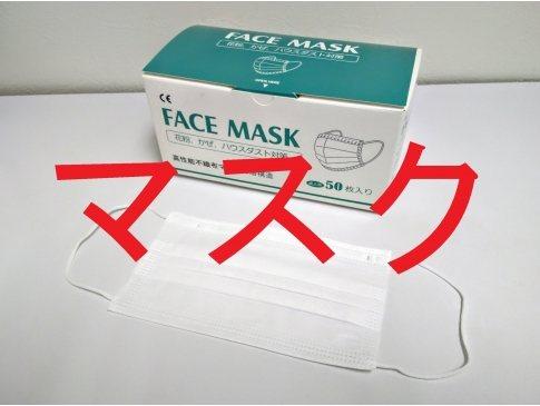 ◆不織布マスク◆販売 大人用・白・1箱50枚入り